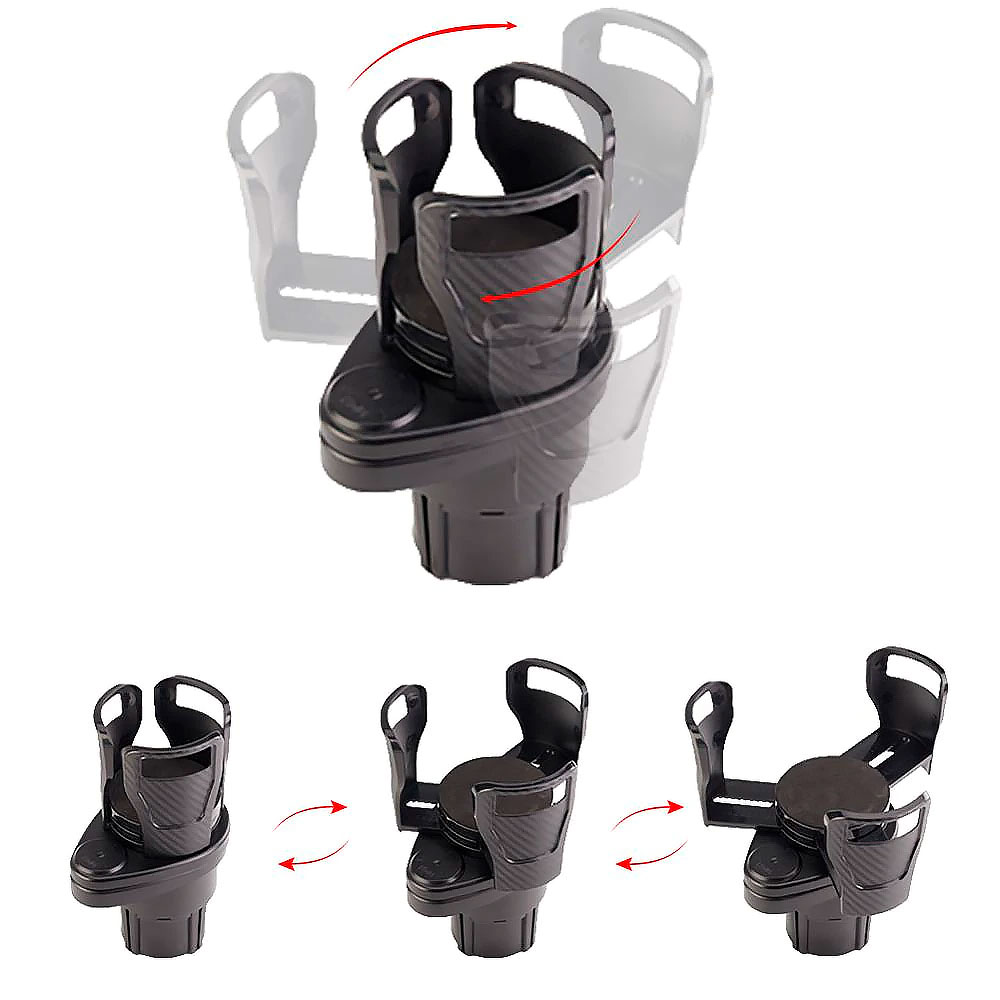 Suporte para copos no carro antiderrapante - Dual Houder